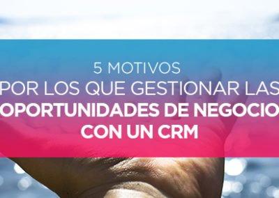 5 Motivos por los que Gestionar las Oportunidades de Negocio con un CRM