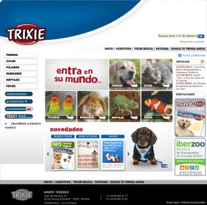 Imagen del Portal de Comercio Electrónico de Trixder, cliente de Clavei