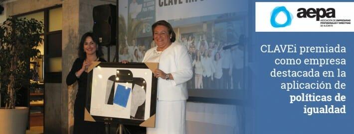 CLAVEi premiada por AEPA como empresa destacada en la aplicación de políticas de igualdad