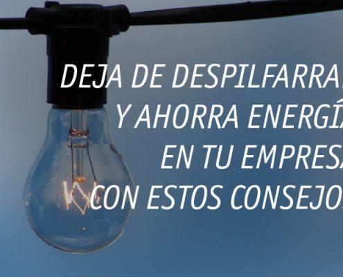 Ahorra energía en la empresa y no despilfarres