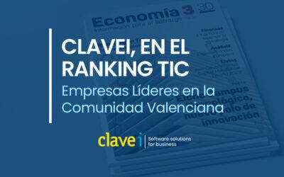 Clavei, en el ranking TIC de Empresas Líderes en la Comunidad Valenciana.