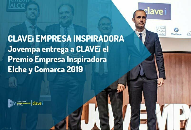 Clavei recibe el premio Empresa Inspiradora 2019 por Jovempa