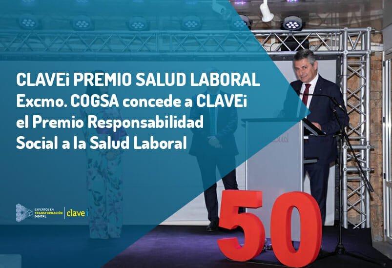 CLAVEi Premio a la Salud Laboral por Excmo. COGSA