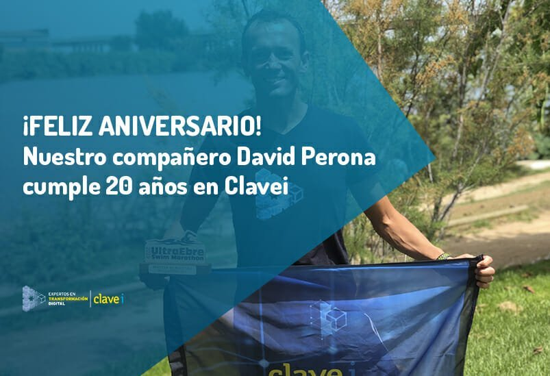 David, ¡Feliz 20 aniversario en Clavei!