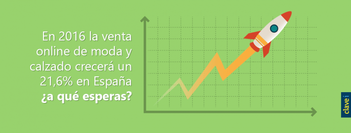 EN 2016 LA VENTA ONLINE DE MODA Y CALZADO CRECERÁ UN 21,6% EN ESPAÑA ¿A QUÉ ESPERAS?