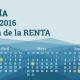 Calendario 2016 de la declaración de la renta 2015