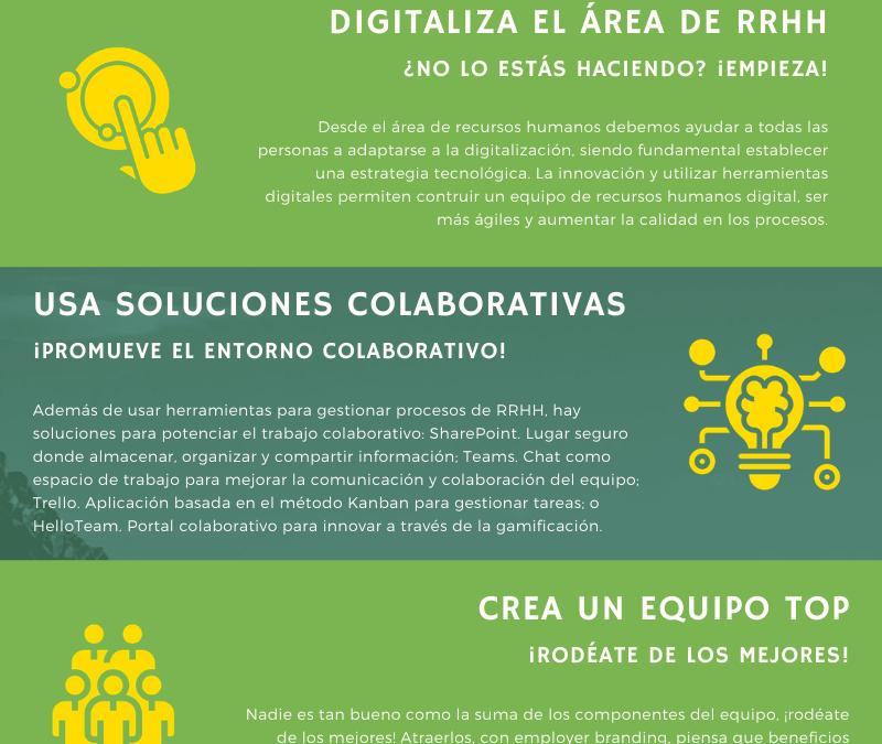 Infografía: 5 acciones para mejorar la productividad del área de RRHH
