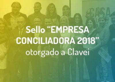 """Clavei, distinguida con El Sello """"Empresa Conciliadora 2018"""" que otorga El Ayuntamiento de Elche"""