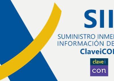 Suministro Inmediato de Información del IVA (SII) en ClaveiCON