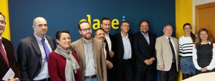 Visita del Conseller Rafael Climent y el Alcalde de Elche Carlos González a CLAVEi